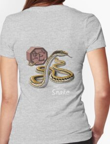 Year of the Snake (for dark shirts) Womens Fitted T-Shirt