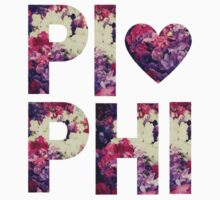 Pi Phi Sorority University College Print Floral by Big Kidult
