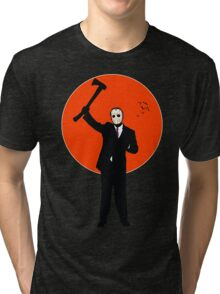 Hockey Mask and a Suit Tri-blend T-Shirt