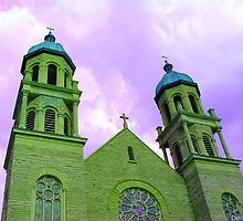 Basilica of St. Adalberts'; Grand Rapids, MI - Purple Hue by Deb  Badt-Covell