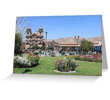 Plaza Mayor Greeting Card