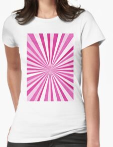 Sun Burst Purples Womens Fitted T-Shirt
