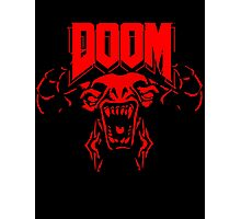Doom 4 cyber demon video game logo t shirt  Photographic Print