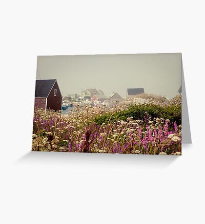 PURPLE HAZE- Peggy's Cove, Nova Scotia Greeting Card