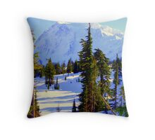 """The Mighty Mountain"" Throw Pillow"