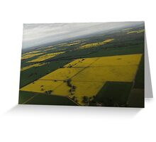 Canola Patchwork  Greeting Card