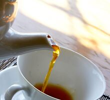 Tea pouring by Gary Browne