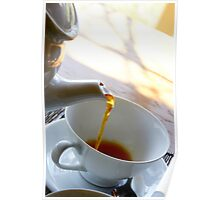 Tea pouring Poster