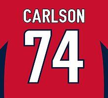Washington Capitals John Carlson Jersey Back Phone Case by Russ Jericho