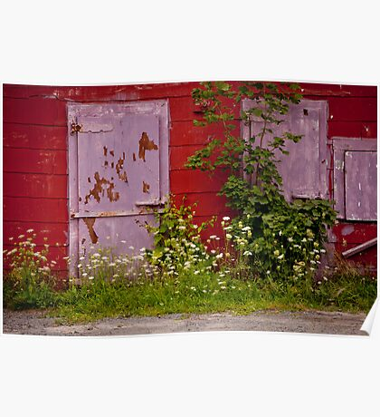 THE PURPLE DOOR- Nova Scotia, Canada Poster