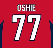 Washington Capitals T. J. Oshie Jersey Back Phone Case by Russ Jericho
