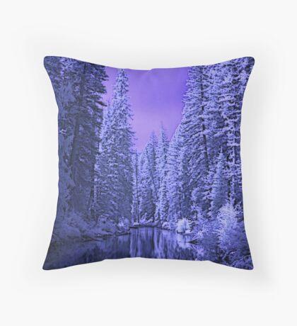 Depths of Winter Throw Pillow
