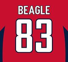 Washington Capitals Jay Beagle Jersey Back Phone Case by Russ Jericho