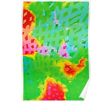 Colorful Abstract Watercolor Painting Background Poster