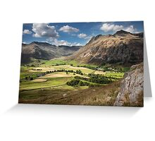 Mickleden & Langdale Fell From Side Pike Greeting Card