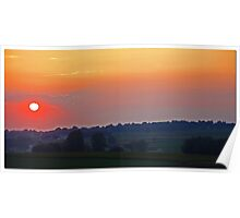 Lancaster County Sunset Poster