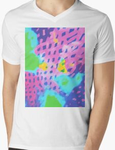 Purple Abstract Watercolor Painting Mens V-Neck T-Shirt