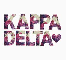 kappa delta sorority rush college print floral by Big Kidult