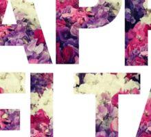 kappa delta sorority rush college print floral Sticker