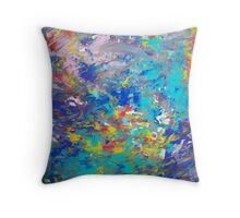 Underwater Rush Throw Pillow