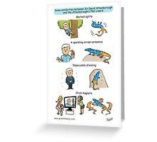 Attenborough and the Attenborough's Flat Lizard Greeting Card