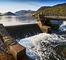 The Weir at Crummock Water, Cumbria. UK by David Lewins