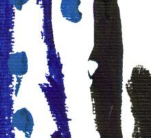 Black & Blue Sticker