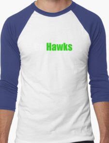 Go Hawks (Seattle) Men's Baseball ¾ T-Shirt