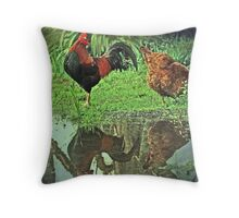 """""""Reflections of Rustle & Gwenie ..."""" Throw Pillow"""