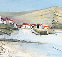 Staithes Panorama by Sue Nichol