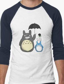 Totoro family Men's Baseball ¾ T-Shirt
