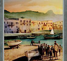 Travel Poster 12 - Kyrenia, Cyprus by talesofcyprus