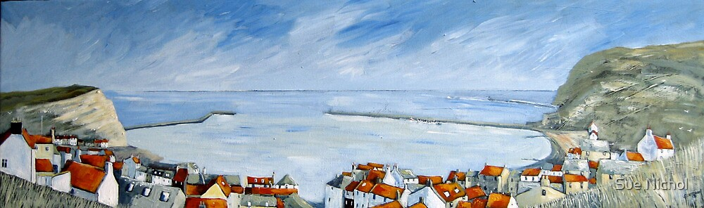 Staithes View by Sue Nichol