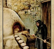 Travel Poster 11 - Baking Bread, Cyprus by talesofcyprus
