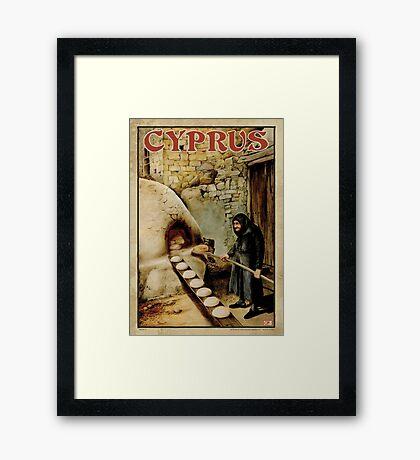 Travel Poster 11 - Baking Bread, Cyprus Framed Print