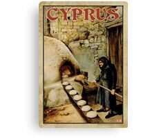 Travel Poster 11 - Baking Bread, Cyprus Canvas Print