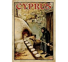 Travel Poster 11 - Baking Bread, Cyprus Photographic Print