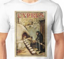 Travel Poster 11 - Baking Bread, Cyprus Unisex T-Shirt