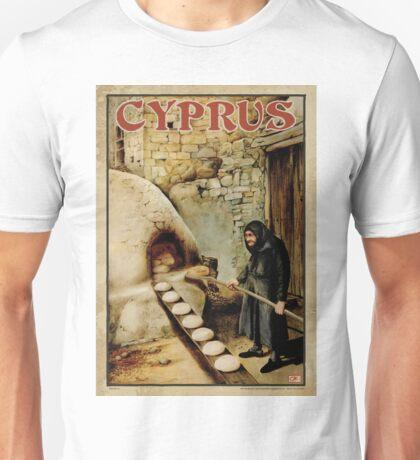 Travel Poster 11 - Baking Bread, Cyprus Unisex T-Shirt