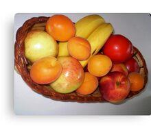 Fruit Basket - all fresh Canvas Print