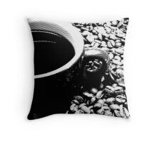 Coffee engraving Throw Pillow
