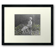 Walker Walkies Framed Print