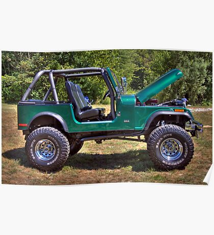 Mean and Green Jeep Poster