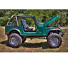 Mean and Green Jeep Photographic Print
