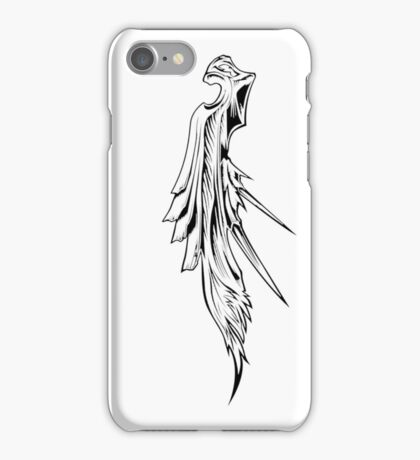 Sephiroth's wing black iPhone Case/Skin