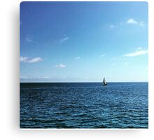 Sail Boat in the Distance Canvas Print