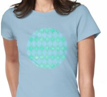Moroccan Aqua Doodle pattern in mint green, blue & white Womens Fitted T-Shirt