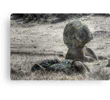 Some Rocks and a Bit of Barbed Wire - Mk II Metal Print