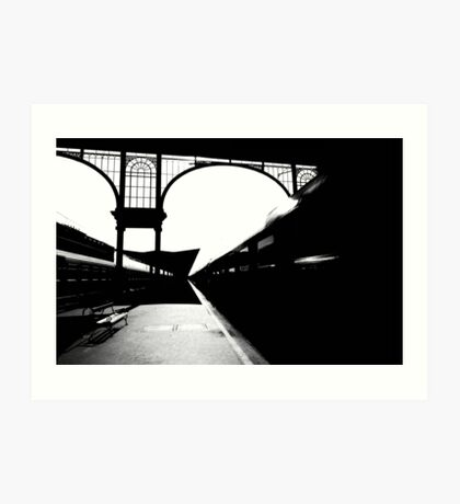 night train from nyugati Art Print