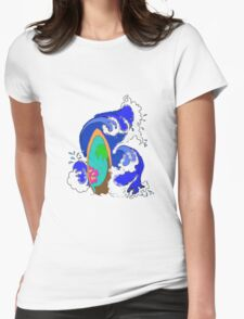 Surf Wave Womens Fitted T-Shirt